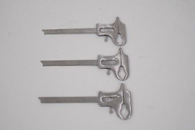 Orthodontic Instrument Boley Gauge Set Of Three Stainless Steel