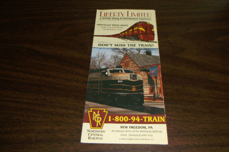 NORTHERN CENTRAL RAILWAY LIBERTY LIMITED UNDATED BROCHURE