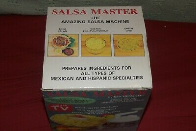 Salsa Master Salsa Maker - As Seen On TV Food Chopper & Manual Food Processor