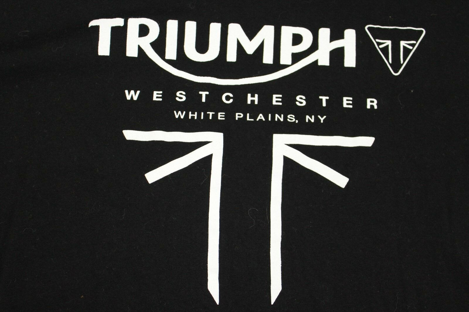 Triumph Motorcycles Westchester White Plains NY Large black shirt Taghole UNWORN