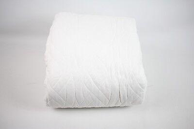 """Isaac Mizrahi New York Cotton 88"""" x 92"""" FULL/QUEEN Quilt WHITE Bedding E030"""