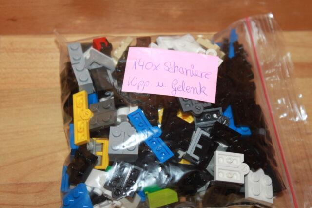 Lego Technik - Technic 140 x Kipp Gelenke, Scharniere 1x2 etc. für z.B. Set 8451