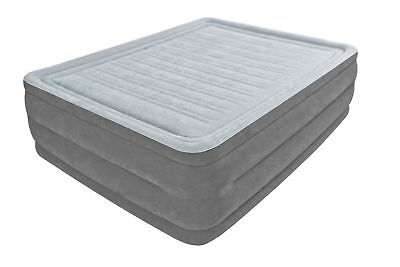 Intex Queen High Rise Airbed Essential Rest Fiber-Tech Air Bed Mattress 64417E