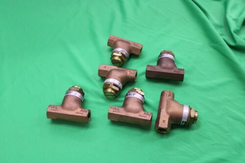 """Lot of 6pc Parker Shrader Bellows 032500219, 1/4"""" Flow Control Valves"""