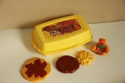 Fisher Price Hotcakes Mcdonalds Playset Play Food Partial Lot Vintage