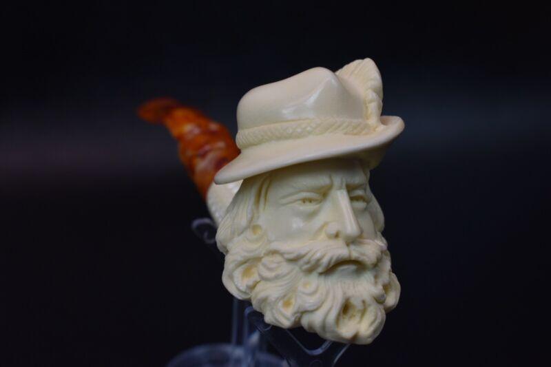 BAVARIAN Man Pipe  Block Meerschaum-handmade NEW W CASE#73