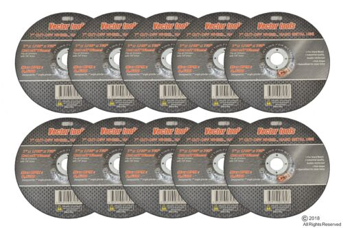 """25 Pack 7""""x.1/16""""x 7/8"""" Cut-off Wheel - Metal & Stainless Steel Cutting Discs"""