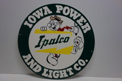 "Reddy Kilowatt IOWA POWER & LIGHT CO. Willie Wiredhand 12"" DIAMETER MEDALLION"