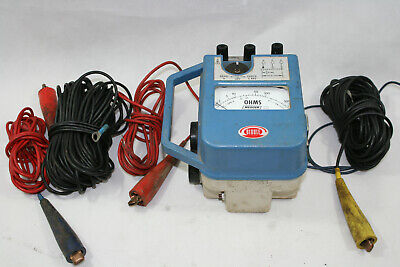 Biddle Megger 250260 Earth Ground Test Set With Cables