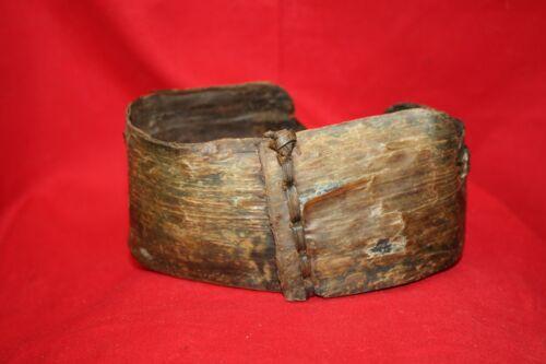 Yupik Baleen Container 1930s St. Lawrence Island Alaska Baleen Cord Wood Bottom