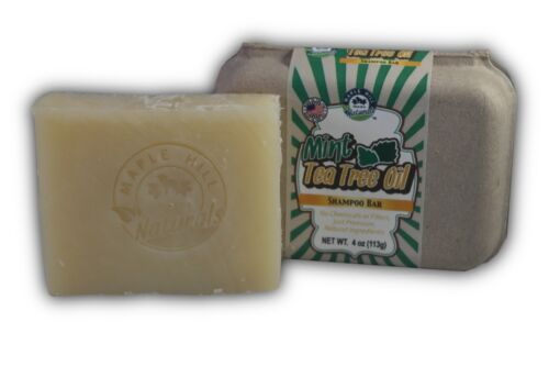 Mint Tea Tree Oil Shampoo Bar
