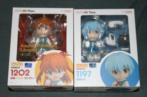 Authentic GSC Evangelion Asuka Shikinami Langley & Rei Ayanami Nendoroids Set