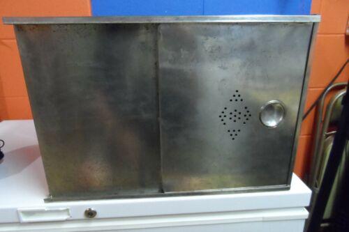 Antique Vintage Hoosier Style Bread Box Tin Cabinet Insert Sliding Door