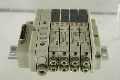 4 Smc Sq2a315c6 Pneumatic Valve W Manifold