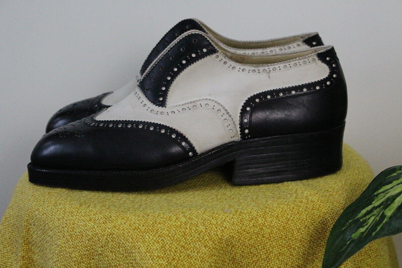 Antik Stepptanz-Schuhe 42 Unisex Leder Schnürschuhe Vintage Brogues Claquetes