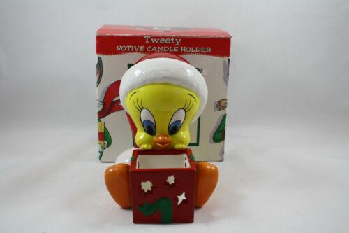 Warner Bros Looney Tunes Tweety Votive Candle Holder Christmas