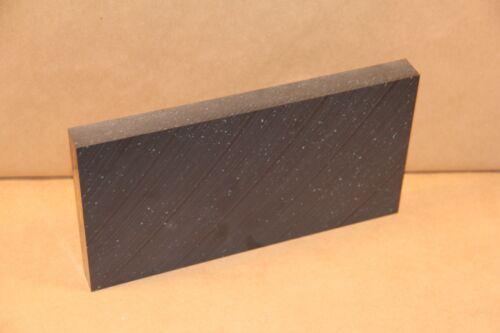 "1"" Black UHMW Block 5.75""x11"" Cnc Millstock Plastic 3628"