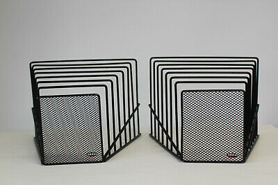 Lot of 63 Incline Desktop File 7 Step Sorters, Black Wire Mesh by Eldon ()