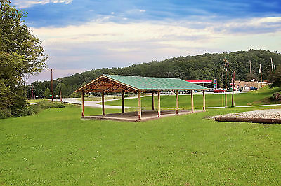 Steel Truss Pole Barn Standing Roof Kit 50x100x12