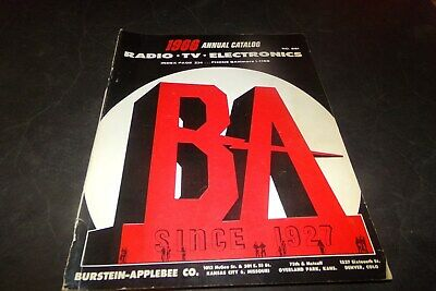 Vintage Burstein Applebee Electronic Catalog Guitars Radio TV Record Player 1966