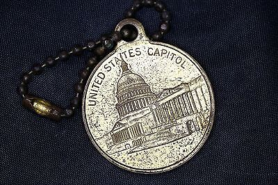 United States Capitol  The White House Coin Pendant