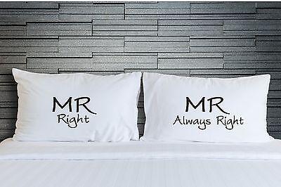 Fundas Almohada Matrimonio Gay Boda Regalos Mr Always Right Cubierta WSD781