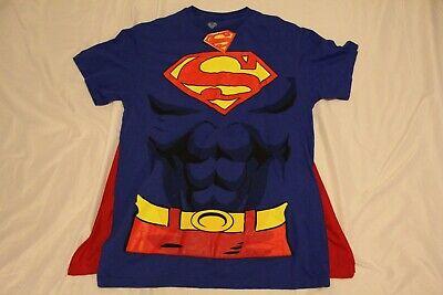 NWT Superman T-Shirt with Cape Medium Short Sleeve