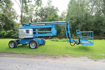 2013 Genie Z6034 Boom Lift Diesel Manlift 4x4 Drive 60 Articulating Boom