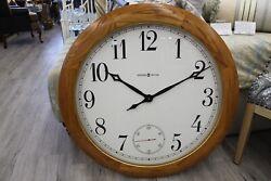 Howard Miller Wall Clock Oak Frame Gallery Size 32.5dia.
