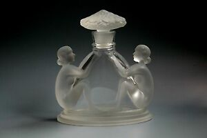 BOHEMIAN-ART-DECO-NUDE-GLASS-PERFUME-BOTTLE