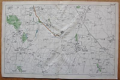 1912 Ca LARGE SCALE BACON STREET MAP- LONDON - BROMLEY COMMON KESTON FARNBOROUGH