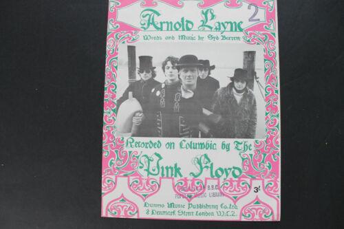 Pink Floyd. Arnold Layne Sheet Music. Syd Barrett. 3/- Original. V Rare!!!!!!!!
