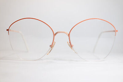 Vintage Apollo Optik 26703 59[]18 140 Orange halbrand Brillengestell Brille NOS