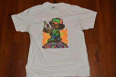 Supreme Molotov Kid Tee White Large 100% Authentic VNDS - Slight Stain