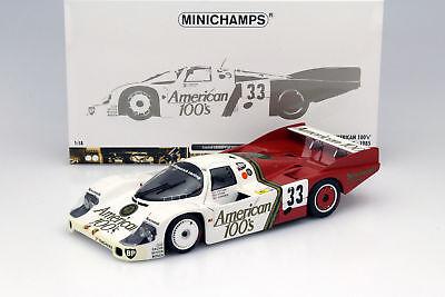 24h le mans 1985 American 100´s 1:18 Minichamps Porsche 956l #33