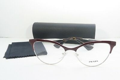 Prada Women's Red Glasses with case VPR 55S UF6-1O1 52mm