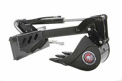 "Mini Skid Steer Backhoe Attachment With Stiff Arm & 12"" Bucket"