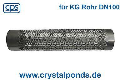 Filtersiebrohr 110er KG Rohr DN 100 Siebrohr Rückhalter Moving Bed Teichfilter