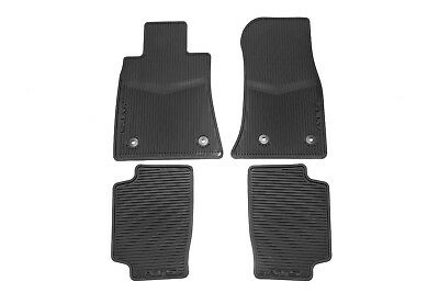 22759927 GM Black Frt  RR Premium All Weather Floor Mats 2013 2018 Cadillac ATS