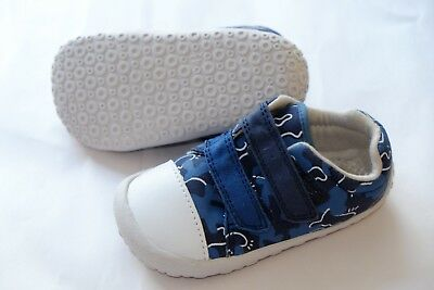 Clarks Doodles boys navy army canvas first crawling trainers infant 5.5/22 G Army Navy Schuhe