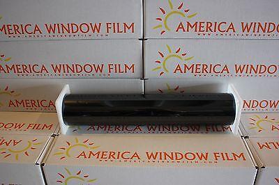 "WINDOW FILM TINT PRIME BLACK 3% VERY DARK FRONT STRIP WINDSHIELD 10"" X 10 FT"