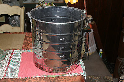 Large White Co. Stainless Steel Dairy Milk Can Pail Carrier Whandle-farm Decor