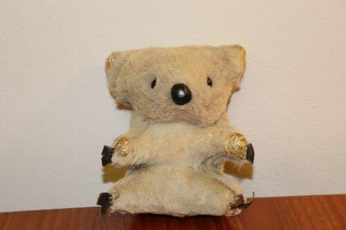 "Vintage  5"" Koala Bear Real Kangaroo Fur Stuffed Animal Hard Body Australia"