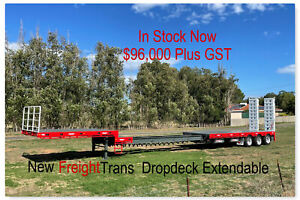 New Drop Deck Triaxle Trailer Extendable With Bifold Ramps Pickering Brook Kalamunda Area Preview