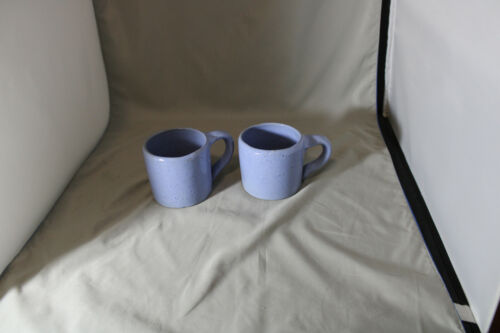 Lot of 2, Bybee, 10 ounce  Light Blue Mugs