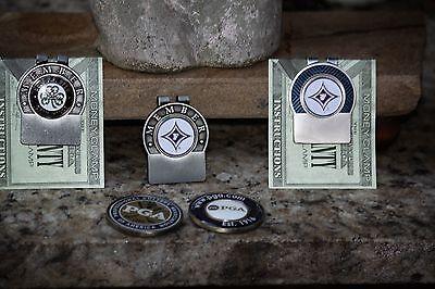 Furman Univ Personalized Blue Trim Money Clip Fr Engraving & Shipping
