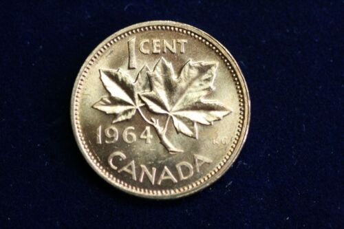 1964 Canada Small Cent, From BU Roll!