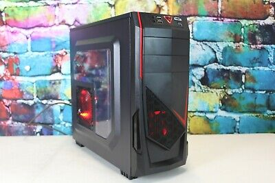 Custom Red Gaming Desktop PC Intel i7 2.80 Quad 8 GB 1 TB Nvidia GTX570 Wifi