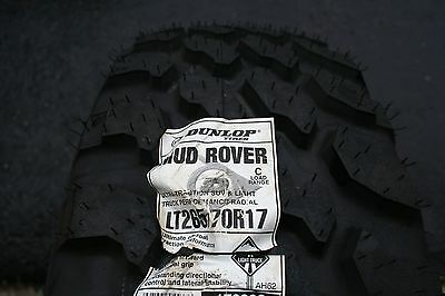 One Brand New Lt 265 70 17 Dunlop Mud Rover Tire 6 Ply  Shipping Discount