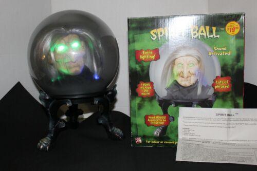 Gemmy 2005 Halloween Witch Spirit Ball Original Box, Adapter & Instructions VGC!